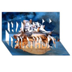 Sea Shell Spiral Happy Birthday 3D Greeting Card (8x4)