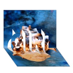 Sea Shell Spiral Girl 3d Greeting Card (7x5)