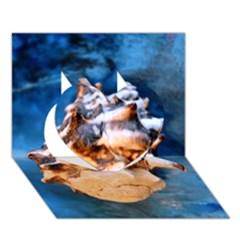 Sea Shell Spiral Heart 3D Greeting Card (7x5)