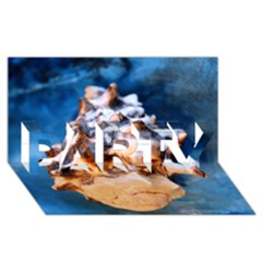 Sea Shell Spiral PARTY 3D Greeting Card (8x4)