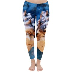 Sea Shell Spiral Winter Leggings