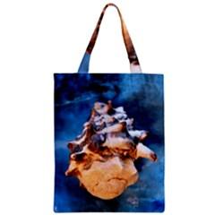 Sea Shell Spiral Zipper Classic Tote Bags