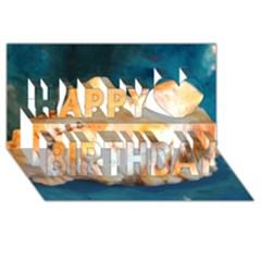 Sea Shell Spiral 2 Happy Birthday 3d Greeting Card (8x4)