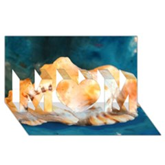 Sea Shell Spiral 2 Mom 3d Greeting Card (8x4)