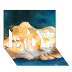 Sea Shell Spiral 2 BOY 3D Greeting Card (7x5)