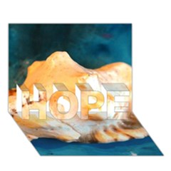 Sea Shell Spiral 2 HOPE 3D Greeting Card (7x5)
