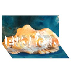 Sea Shell Spiral 2 ENGAGED 3D Greeting Card (8x4)