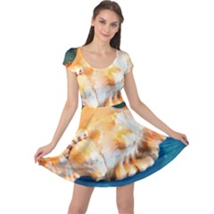 Sea Shell Spiral 2 Cap Sleeve Dresses