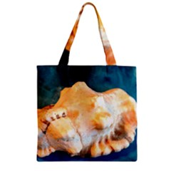 Sea Shell Spiral 2 Zipper Grocery Tote Bags