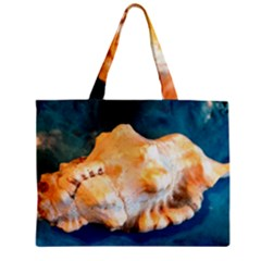Sea Shell Spiral 2 Zipper Tiny Tote Bags