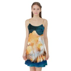Sea Shell Spiral 2 Satin Night Slip
