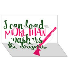 I Can Load More Than Washers And Dryers Twin Hearts 3d Greeting Card (8x4)