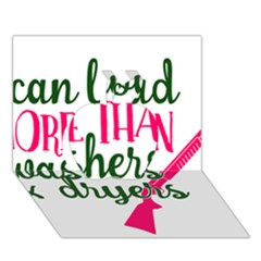 I Can Load More Than Washers And Dryers Apple 3D Greeting Card (7x5)