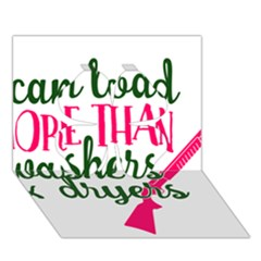 I Can Load More Than Washers And Dryers Clover 3D Greeting Card (7x5)