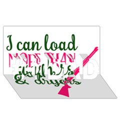I Can Load More Than Washers And Dryers #1 Dad 3d Greeting Card (8x4)