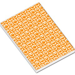 Yellow And White Owl Pattern Large Memo Pads