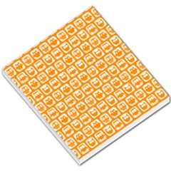 Yellow And White Owl Pattern Small Memo Pads