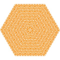 Yellow And White Owl Pattern Mini Folding Umbrellas