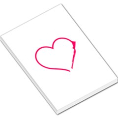 Customizable Shotgun Heart Large Memo Pads