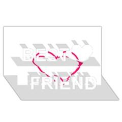 Customizable Shotgun Heart Best Friends 3D Greeting Card (8x4)