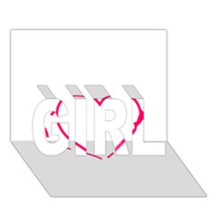 Customizable Shotgun Heart GIRL 3D Greeting Card (7x5)