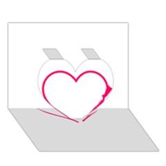 Customizable Shotgun Heart Heart 3d Greeting Card (7x5)