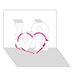 Customizable Shotgun Heart LOVE 3D Greeting Card (7x5)
