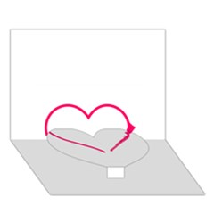 Customizable Shotgun Heart Heart Bottom 3D Greeting Card (7x5)