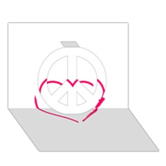 Customizable Shotgun Heart Peace Sign 3D Greeting Card (7x5)