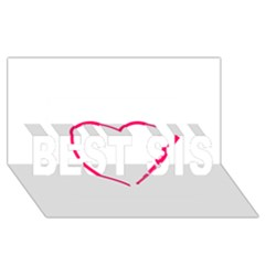 Customizable Shotgun Heart Best Sis 3d Greeting Card (8x4)