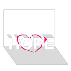 Customizable Shotgun Heart HOPE 3D Greeting Card (7x5)