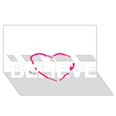 Customizable Shotgun Heart BELIEVE 3D Greeting Card (8x4)