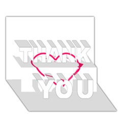 Customizable Shotgun Heart THANK YOU 3D Greeting Card (7x5)