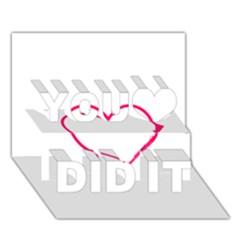 Customizable Shotgun Heart You Did It 3D Greeting Card (7x5)