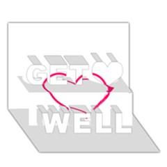 Customizable Shotgun Heart Get Well 3d Greeting Card (7x5)
