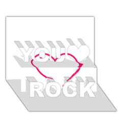 Customizable Shotgun Heart You Rock 3d Greeting Card (7x5)