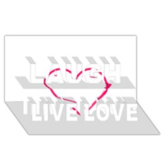 Customizable Shotgun Heart Laugh Live Love 3D Greeting Card (8x4)