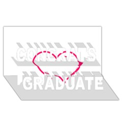Customizable Shotgun Heart Congrats Graduate 3d Greeting Card (8x4)