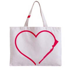 Customizable Shotgun Heart Zipper Tiny Tote Bags
