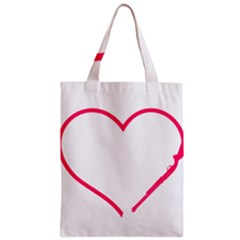 Customizable Shotgun Heart Zipper Classic Tote Bags