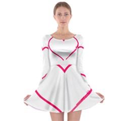 Customizable Shotgun Heart Long Sleeve Skater Dress