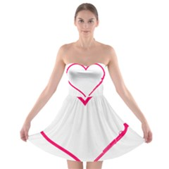 Customizable Shotgun Heart Strapless Bra Top Dress
