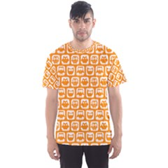 Yellow And White Owl Pattern Men s Sport Mesh Tees