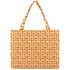 Yellow And White Owl Pattern Tiny Tote Bags