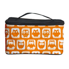 Yellow And White Owl Pattern Cosmetic Storage Cases