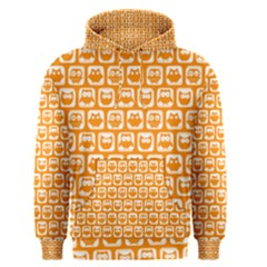 Yellow And White Owl Pattern Men s Pullover Hoodies