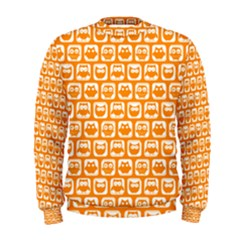 Yellow And White Owl Pattern Men s Sweatshirts