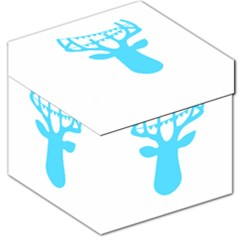 Party Deer With Bunting Storage Stool 12