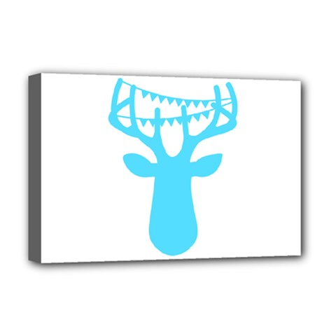 Party Deer With Bunting Deluxe Canvas 18  x 12
