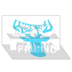 Party Deer With Bunting Best Friends 3d Greeting Card (8x4)